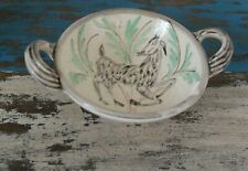 More details for denby studio pottery glynn colledge hand-painted deer bowl 1950s. signed.