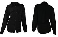 NEW Ladies' Central Park Long Sleeve Blouse - BLACK - Medium / Large