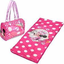 Disney Minnie Mouse Toddler Sleepover Set/Nap Mat With Duffle *Auction 4 Animals