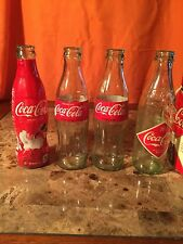Coca Cola Four Pack Mismatched Bottles All Holiday 2012 W/ Caddy