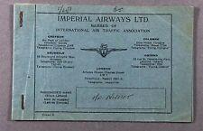 IMPERIAL AIRWAYS OLD USED VINTAGE AIRLINE TICKET - FRANKFURT