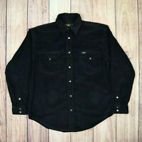 Lee Mens Vintage Corduroy Jacket Shirt Top Black Size Medium