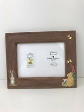 Classic Pooh Small Brown Photo Frame Border Fine Arts Studio Baby Gift