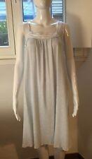 VINTAGE VESTE lingerie chemise Nightgown 100% COTONE dress TG M SARTORIALE FIORI