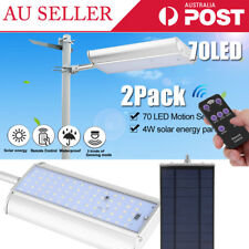 2Pack Waterproof Solar Sensor Light 70 LED Remote  Control Induction Wall Lamp