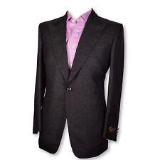 NWT BELVEST Midnight Blue Shimmery Peak Lapel FLASHY Dinner Jacket Tuxedo 40 R