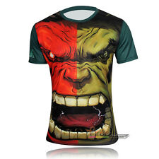 Men Casual T-Shirt Short Sleeve Marvel Superhero Costume Cycling Tops Jersey