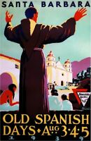 1939 Santa Barbara Old Mexico United States Travel Advertisement Art Print