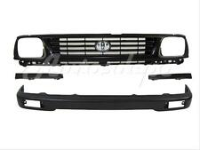 For 1995 1996 Tacoma 2wd Front Bumper Face Bar Black Grille Filler 4pcs Fits 1996 Toyota Tacoma