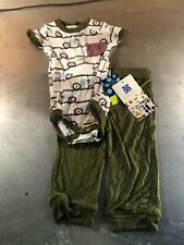 Kickee Pants Bamboo S/S One-Piece & Pant Tractor Design- Size: 12-18 Months- NWT