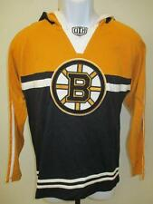 Neuf Boston Bruins Youth TAILLE L Grand Noir Chemise à Capuche Msrp