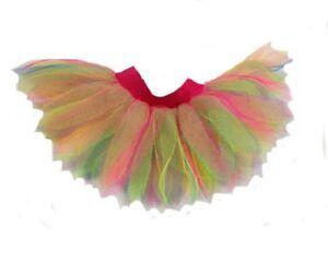 Neon Rainbow Multi-coloured Style 6 Layer Tutu 80S Fancy Dress Hen Party Dance