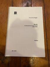 Mauricio Kagel Music For Renaissance Instruments Full Score
