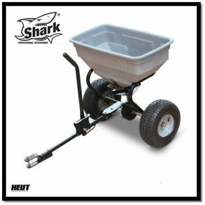 Shark ATV Quad Streuwagen Salzstreuer Granulatstreuer Anhänger NEU