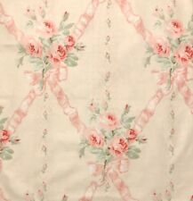 CLARENCE HOUSE Jean Monro Caroline Pink Floral Cotton Chintz Remnant New
