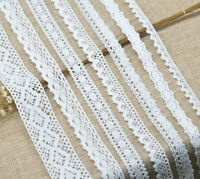 5 Yards Beautiful White Cotton Lace Trim Ribbon Crochet DIY Craft Sewing Fabric