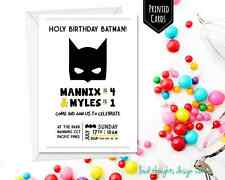 PRINTED BATMAN INVITATIONS PERSONALISED BATMAN BIRTHDAY INVITATION BATMAN INVITE