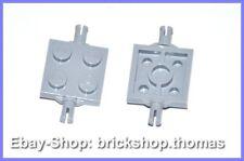 Lego 2 x Platte mit Pins Achse 2x2 - 4600- Plate Light Bluish Gray - NEU / NEW