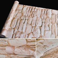 33ft Wallpaper 3D Stone Embossed Brick Waterproof Self Adhesive Wall Stick Decor