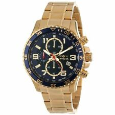 Invicta 14878 Men's Specialty Chrono Blue Dial Gold Plated Steel Bracelet Watch