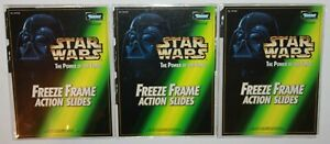 LOT Star Wars The Power of The Force Freeze Frame Action Slides w/Three Binders