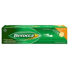 Berocca Orange Effervescent Vitamin Tablets, 6 Tubes of 15 Tablets