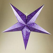 Star Paper Lantern Magical Fantasy Lighting Bedroom Party Decoration Deep Purple