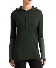 ATHLETA Merino Nopa Hooded Sweater- Jasper Green Heather NEW $128 Sz XS