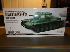 Heng Long 1:16 Russia KV-1 Ehkranami Battle Tank RC Radio Control Infrared RARE