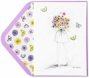 Bella Pilar Papyrus Mother's Day Card -Pretty As Butterflies Fashion Gal Flowers