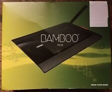 Wacom Bamboo Pen CTL-460 Graphics Tablet With Pen, User Guide, & Software - E