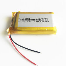 1400mAh LiPo polymer Battery 3.7V rechargeable 103048 For DVD GPS PAD CAMERA PSP