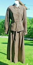Civil War Reenactment Women's Size 8 10 12 ? Reproduction Cotton Dress