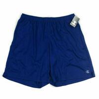 Champion Mens Shorts Performance Stretch Active Blue Sz 2XL