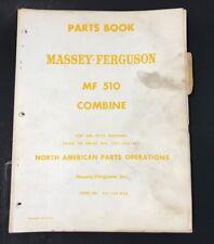Massey Ferguson Parts Book Mf 510 Combine Machine Prior To Serial 1201 003 653