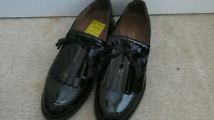 Russell & Bromley Ladies Flat Patent Shoes New Charlie 39.5 £475 Loafers