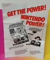 Nintendo Power Super SNES Insert Poster ONLY No Game !! Mario Batman Joker Zelda