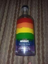 Absolut Vodka Bottle Gay Pride Rainbow Flag Collectors Edition EMPTYW/ Cap