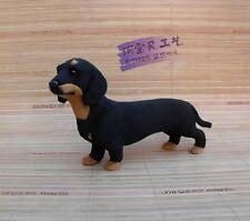 simulation dachshund dog toy polyethylene&furs black dog doll gift about 21x12cm