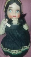Mexican Souvenir Composition/1950 Toddler Doll~Orig.Outfit, no legs or arms