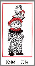 Doll Mail Order Clown Doll W / Clothes Fabric Material sewing pattern # 7014