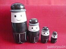 Fred The Homepride Man Russian wooded Stacker Dolls 4 In A Set Hand Painted