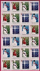 Canada - Christmas Seals 1987, VF, NH. Full Sheet of 24