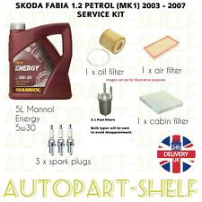 SKODA Fabia 1.9 SDi Diesel 99-07 Huile /& Filtre à Air Service Kit sk3aa