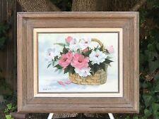 "SADAKO MANO Original Oil on Canvas ""Who's Who of Women"" Japanese American Artist"