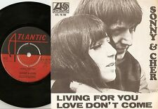 SONNY AND CHER LIVING FOR YOU & LOVE SWEDISH 45+PS 1966 MOD BEAT NORTHERN SOUL