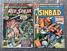 1975/1976 Marvel Bronze Age Comics Lot: Marvel Feature #6 & Marvel Spotlight #25