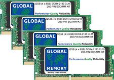 32GB (4 x 8GB) DDR4 2133MHz PC4-17000 260-PIN SODIMM KIT MEMORIA RAM PER LAPTOP
