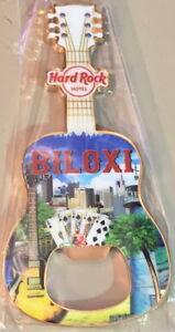 Hard Rock Hotel BILOXI 2017 Guitar MAGNET Bottle Opener V17 City Tee Shirt Style