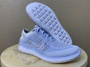 Nike Free Flyknit RN 2018 Hydrogen Blue Running Shoes Sneakers 942839 Women Sz 9